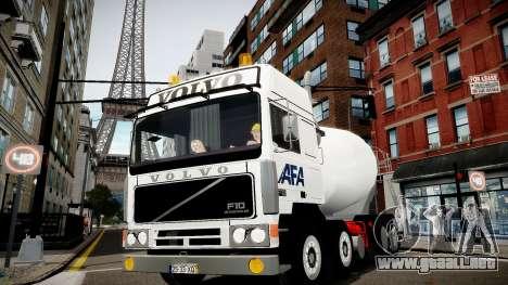 Volvo F10 cement truck para GTA 4 Vista posterior izquierda