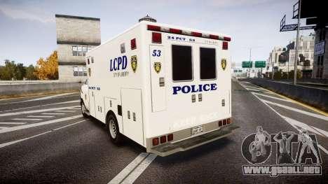 Brute Enforcer para GTA 4 Vista posterior izquierda