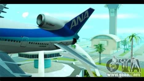 Lookheed L-1011 ANA para GTA San Andreas vista posterior izquierda