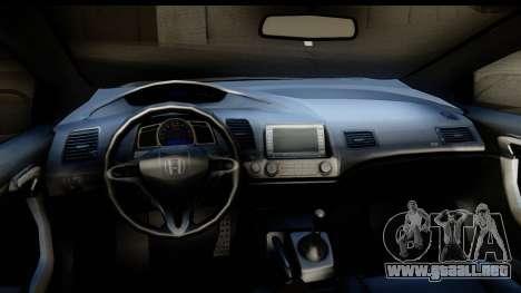 Honda Civic SI Juiced Tuned Shinon Itasha para visión interna GTA San Andreas