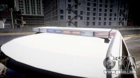 Ford Explorer 2011 Elizabeth Police [ELS] v2 para GTA 4 vista hacia atrás