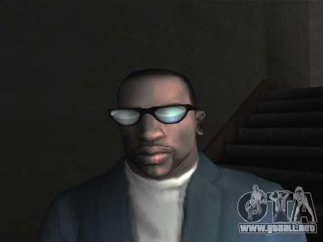 Las gafas nuevas para CJ para GTA San Andreas segunda pantalla
