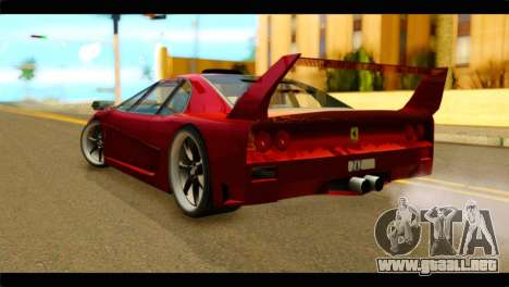 Turismo F40 para GTA San Andreas left
