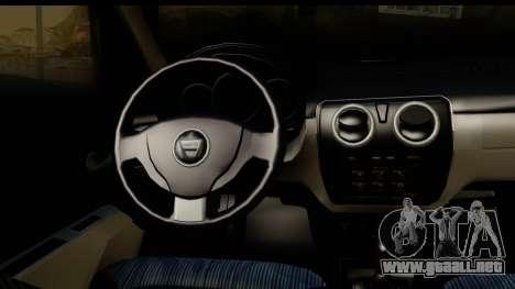 Dacia Lodgy 2014 para visión interna GTA San Andreas