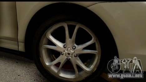 Porsche Cayenne S 2015 para GTA San Andreas vista hacia atrás