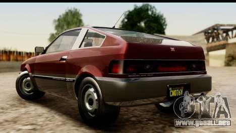GTA 5 Dinka Blista Compact para GTA San Andreas left