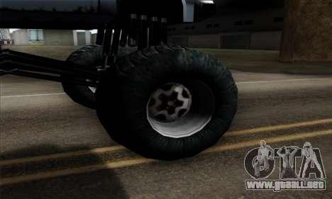 Monster Bobcat para GTA San Andreas vista posterior izquierda