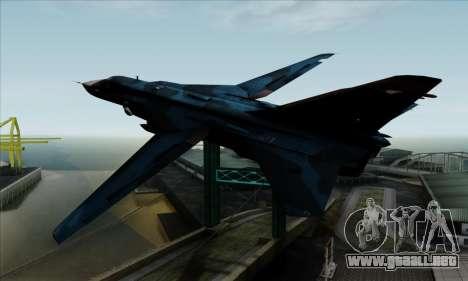 SU-24MP Fencer Blue Sea Camo para GTA San Andreas left