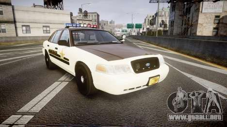 Ford Crown Victoria Liberty Sheriff [ELS] para GTA 4