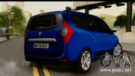 Dacia Lodgy 2014 para GTA San Andreas left