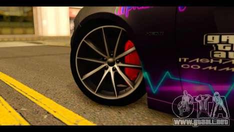 Dodge Charger RT 2015 Hestia para GTA San Andreas vista posterior izquierda