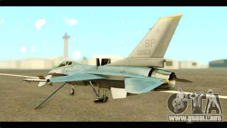 Lockheed Martin F-16C Fighting Falcon Warwolf para GTA San Andreas left