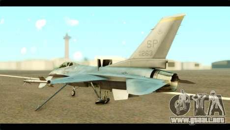 Lockheed Martin F-16C Fighting Falcon Warwolf para GTA San Andreas left
