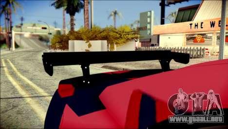 Chevrolet Camaro ZL1 Indonesian Police v2 para GTA San Andreas vista hacia atrás
