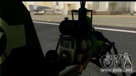 Gyrocopter para GTA San Andreas vista posterior izquierda