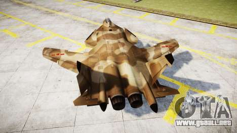 El Su-47 Berkut desert para GTA 4 Vista posterior izquierda