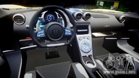 Koenigsegg Agera 2013 Police [EPM] v1.1 PJ2 para GTA 4 vista interior