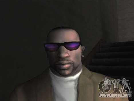 Las gafas nuevas para CJ para GTA San Andreas sucesivamente de pantalla