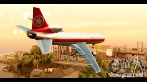 Lookheed L-1011 Air Canada para GTA San Andreas left