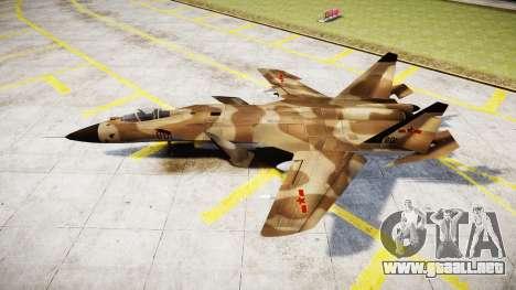 El Su-47 Berkut desert para GTA 4 left