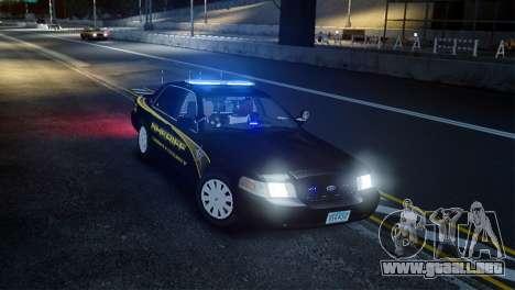 Ford Crown Victoria Sheriff LC [ELS] para GTA 4 visión correcta
