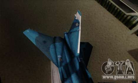 SU-24MP Fencer Blue Sea Camo para GTA San Andreas vista posterior izquierda