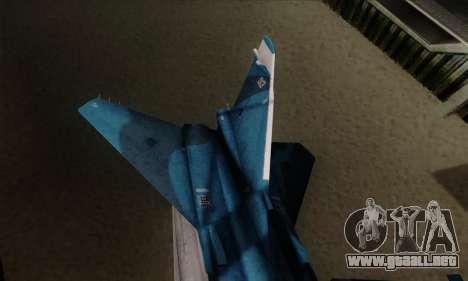SU-24MP Fencer Blue Sea Camo para GTA San Andreas vista posterior izquierda