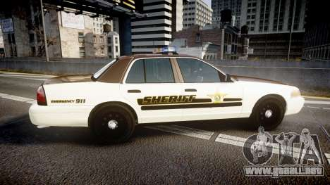 Ford Crown Victoria Liberty Sheriff [ELS] para GTA 4 left