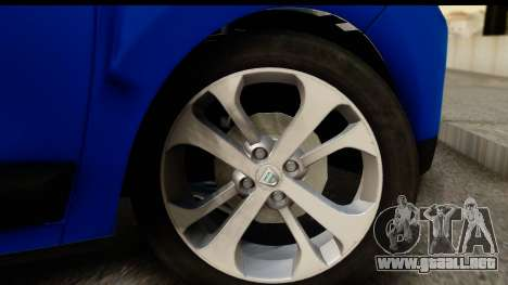 Dacia Lodgy 2014 para GTA San Andreas vista hacia atrás
