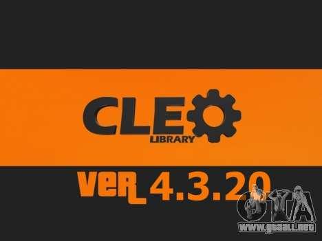 CLEO 4.3.20 [21.04.2015] para GTA San Andreas