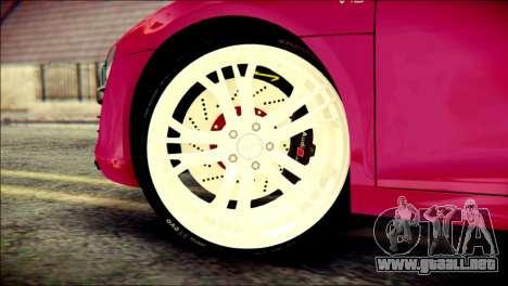 Audi R8 V10 Plus 5.2 FSI 2013 para GTA San Andreas vista posterior izquierda
