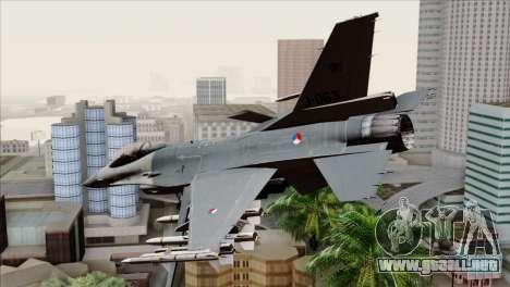 F-16AM Fighting Falcon para GTA San Andreas left