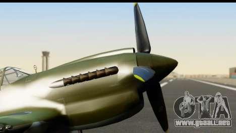 P-40E Kittyhawk IJAAF para la visión correcta GTA San Andreas