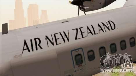 ATR 72-500 Air New Zealand para GTA San Andreas vista hacia atrás