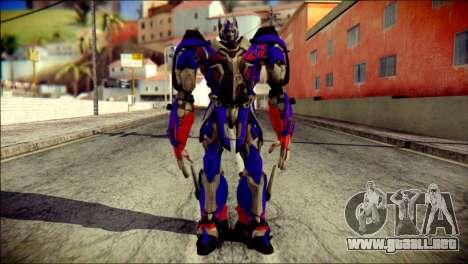 Optimus Prime Skin from Transformers para GTA San Andreas