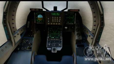 F-2A Viper Blue para visión interna GTA San Andreas