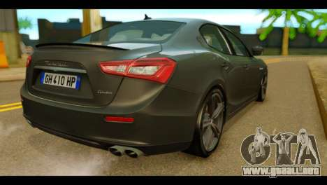 Maserati Ghibli S 2014 v1.0 EU Plate para GTA San Andreas left