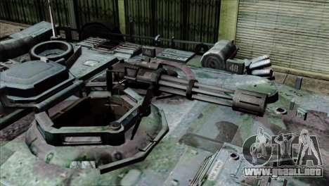 M1A2 Abrams Woodland Blue Camo para GTA San Andreas vista hacia atrás