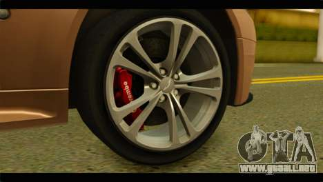 Aston Martin V12 Vantage para GTA San Andreas vista posterior izquierda