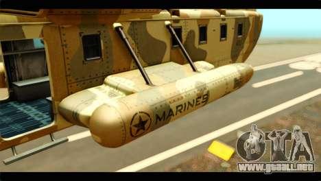 GTA 5 Cargobob para GTA San Andreas left