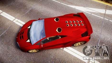 GTA V Pegassi Zentorno para GTA 4 visión correcta
