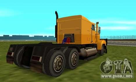 PS2 RoadTrain para la visión correcta GTA San Andreas
