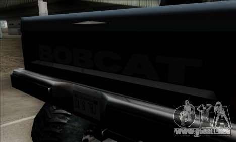Monster Bobcat para GTA San Andreas vista hacia atrás