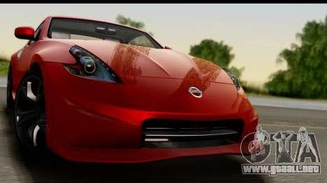 Nissan 370Z Nismo 2010 para GTA San Andreas vista posterior izquierda