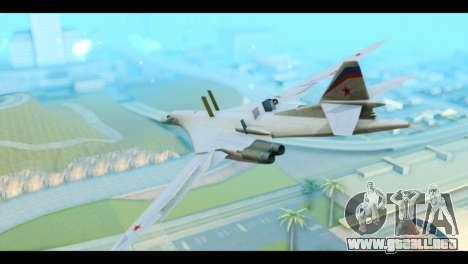 TU-160 Blackjack para GTA San Andreas left
