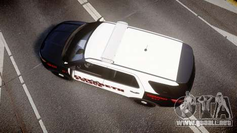 Ford Explorer 2011 Elizabeth Police [ELS] v2 para GTA 4 visión correcta