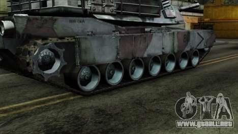 M1A2 Abrams Woodland Blue Camo para GTA San Andreas vista posterior izquierda