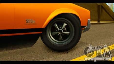 GTA 5 Declasse Sabre GT Turbo IVF para GTA San Andreas vista posterior izquierda