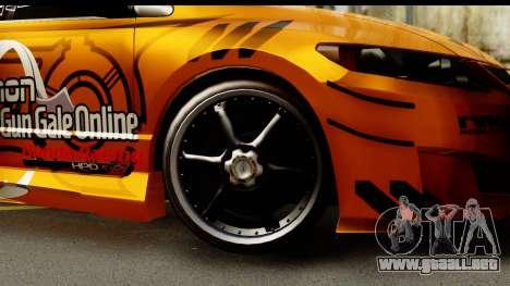 Honda Civic SI Juiced Tuned Shinon Itasha para GTA San Andreas vista hacia atrás