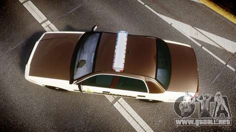 Ford Crown Victoria Liberty Sheriff [ELS] para GTA 4 visión correcta